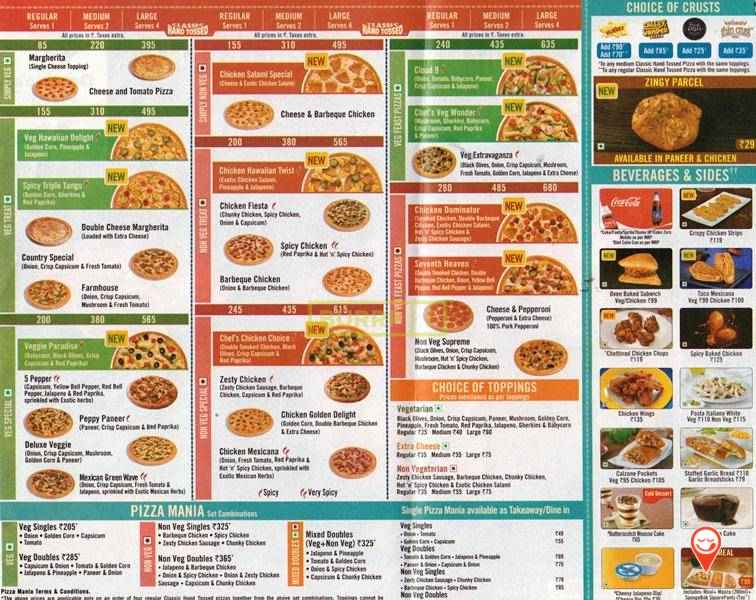 www dominos com Menu Rate List | How to Order Pizza Online