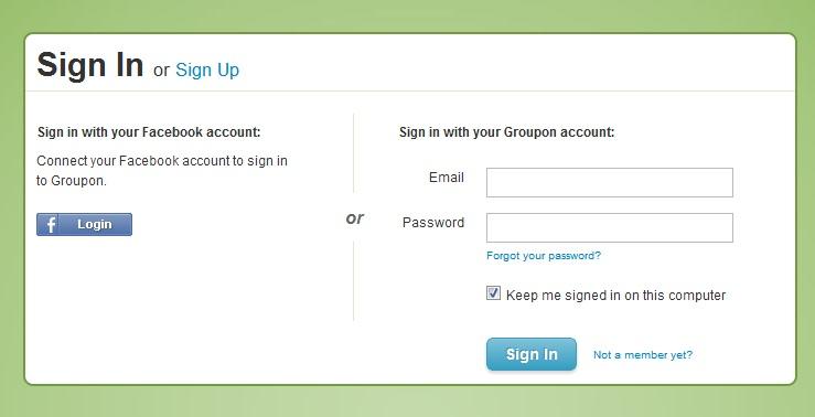 www mygroupon login - Manage Your Groupon Deals Account